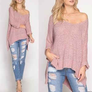 MARGOE Knit Sweater - PINK
